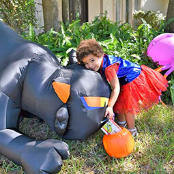 halloween super girl superman costume hippo happy fun candy decor UGC content