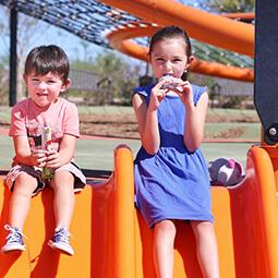 kids siblings fun playground snack girl boy UGC branded content