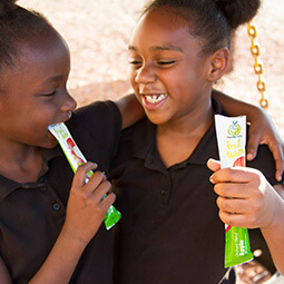 sisters Afro-american smiling snack school break food UGC branded content